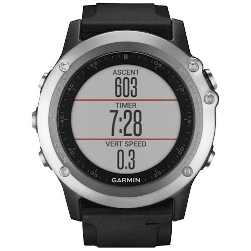 Купити Смарт-годинник GARMIN fenix 3 HR Silver Edition with black silicone  band (010 571123b1a0aa2