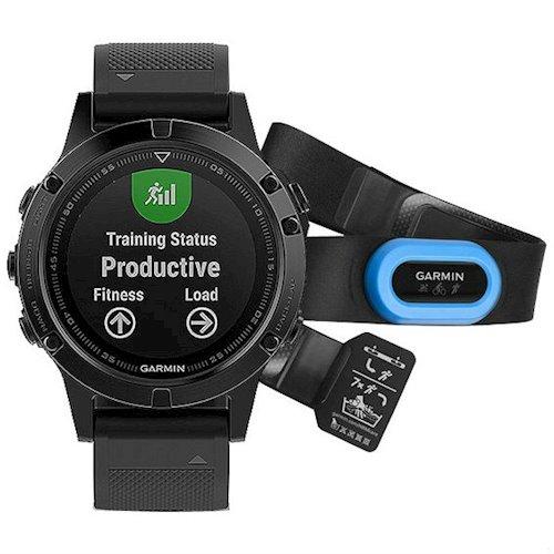 Смарт-часы GARMIN fenix 5 Sapphire Performer Bundle - Black with black band (010-01688-32)
