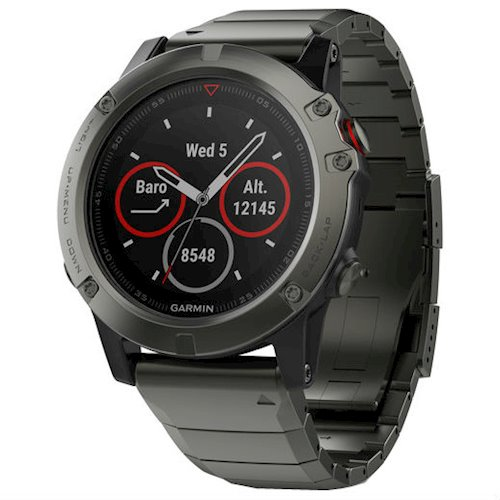 Купити Спортивний годинник GARMIN fenix 5X Sapphire Slate grey with metal  band (010-01733 b0783e7e566b1