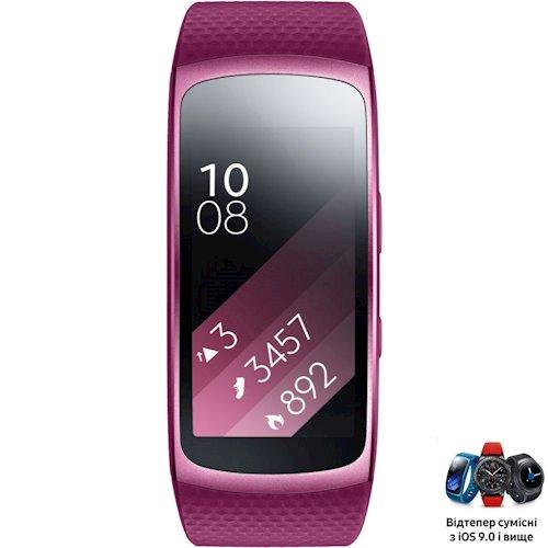 ≡ Фитнес-браслет SAMSUNG Gear Fit 2 (SM-R3600ZIASEK) Pink - в ... 81042c52756f9