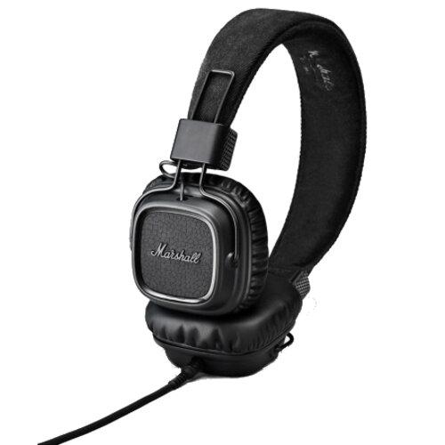 ≡ Навушники з мікрофоном MARSHALL Major II Pitch Black - купити в ... 013dc1cb7babc