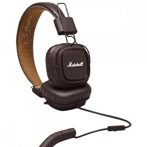 ≡ Навушники з мікрофоном MARSHALL Major II Brown - купити в ... 7c57b5347b953