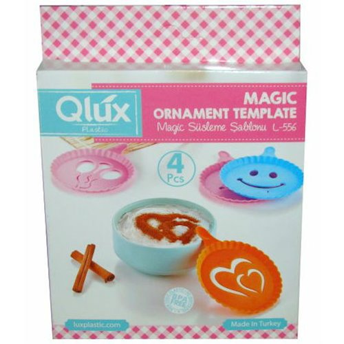Набор трафаретов для кофе QLUX MIX 4 шт. (L-00556)