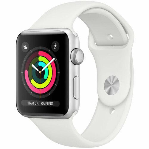 Купить Смарт-часы APPLE Watch Series 3 GPS 42mm Silver Aluminum Case with  White Sport 77e4d7ac3c556
