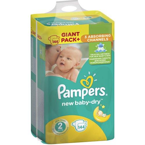 ada9585cd071 ≡ Подгузники PAMPERS New Baby-Dry Mini 2 (3-6 кг) 144 шт ...