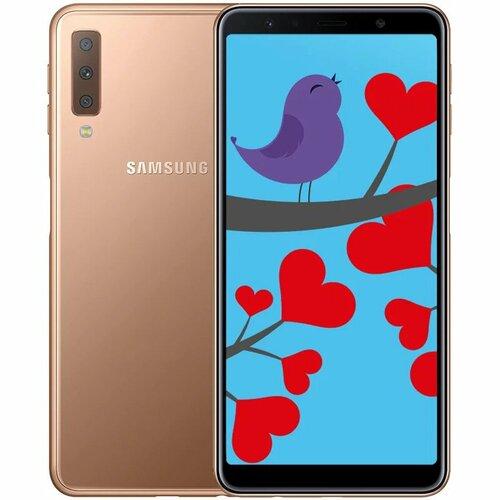 30a1d6bd5c7 ≡ Смартфон SAMSUNG Galaxy A7 2018 4 64Gb Duos Gold (SM-A750FZDUSEK ...