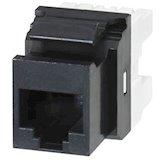 Розеточный модуль MOLEX KM 1xRJ45 (WE8W) UTP 568A/B PowerCat 5e Black (KSJ-00032-04)