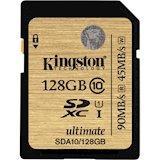 Карта памяти KINGSTON SDXC 128 GB CLASS 10 UHS-I Ultimate (SDA10/128GB)