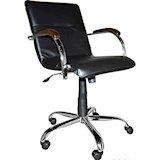Офисное кресло Примтекс плюс Samba GTP chrome wood 1.031 CZ-3 Black
