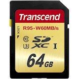 Карта памяти TRANSCEND Ult/SDXC64GB Class10UHS-I U3 (TS64GSDU3)