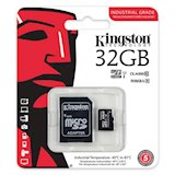Карта памяти KINGSTON 32GB microSDHC C10 UHS-I R90/W45MB/s Industrial (SDCIT/32GB)