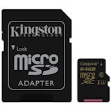 Карта памяти KINGSTON microSDXC 64 Gb UHS-I U3 (SDCG/64GB)