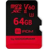 Карта памяти GOODRAM microSDXC 64GB IRDM UHS II V60 U3 (IR-M6BA-0640R11)