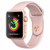 Смарт-часы Apple Watch Series 3 GPS 38mm Gold Aluminum Case with Pink Sand Sport Band (MQKW2FS/A)