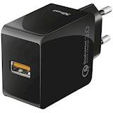 Сетевое зарядное устройство TRUST URBAN Ultra Fast QC3.0 & Auto Detect Black (21818)