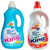 Стиральный порошок KING Universal 1.5L + KING Black Color gel 1.5L