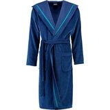 cawo Халат чол, cotton 100% , Hood, синій, розмір 52