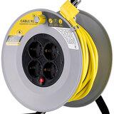 Сетевой удлинитель на катушке 2E 4XSchuko 20 м Yellow (2E-U04RE20M)