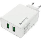 Сетевое зарядное устройство COLORWAY 2 USB Quick Charge 3.0 36W White