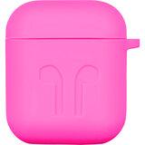 2e Apple AirPods, Pure Color Silicone Imprint,Fuchsia